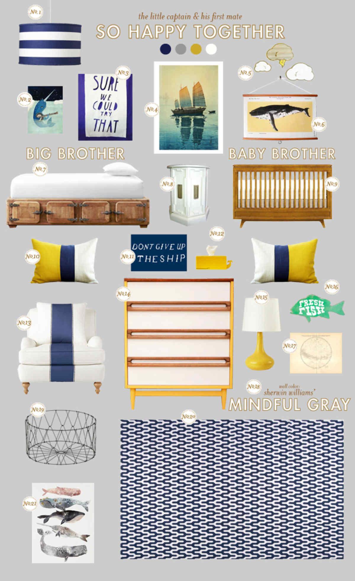 nautical nursery baby room ideas