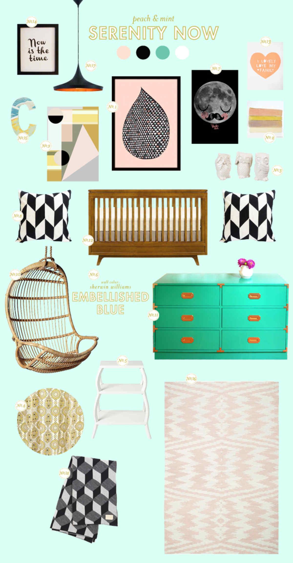 baby nursery inspiration board
