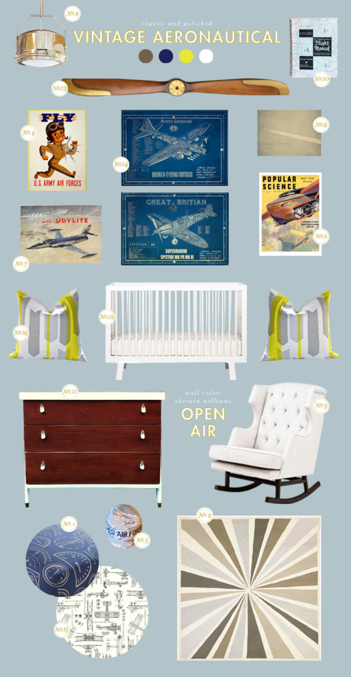 airplane baby room ideas