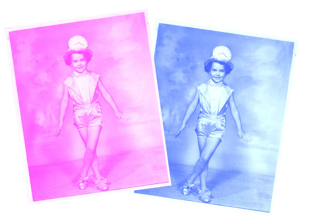 turn vintage photos pink