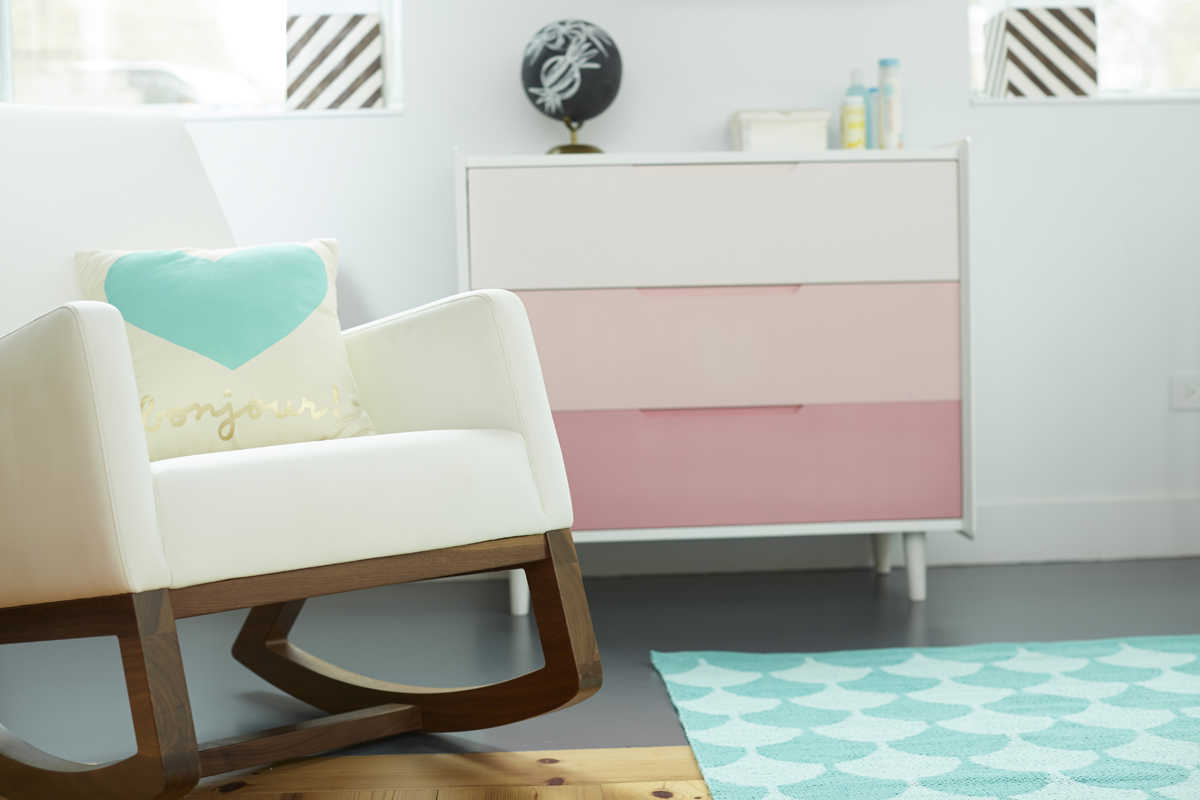 modern girly nursery