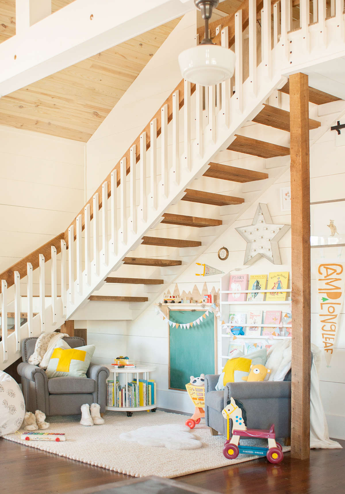 A playspace at the farm lay baby lay lay baby lay for Kids play area in living room ideas