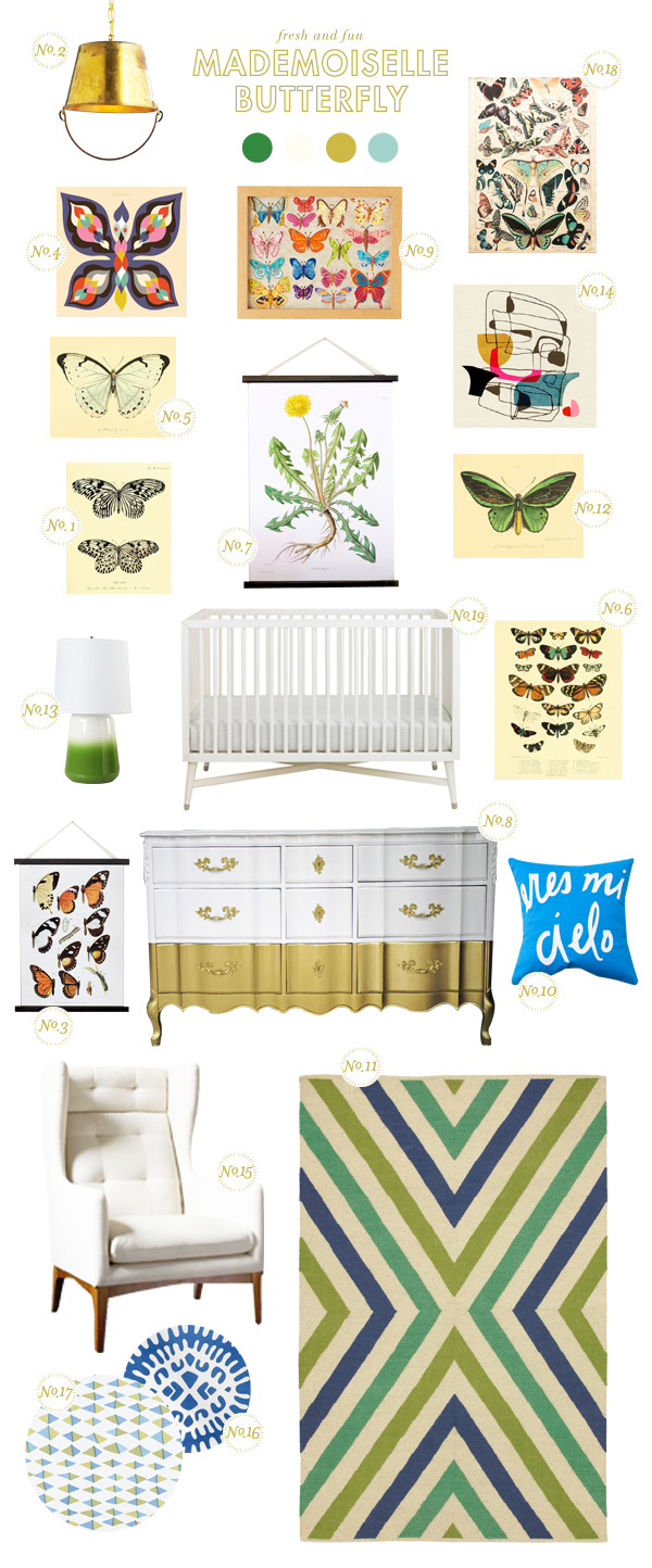 butterfly baby nursery inspiration