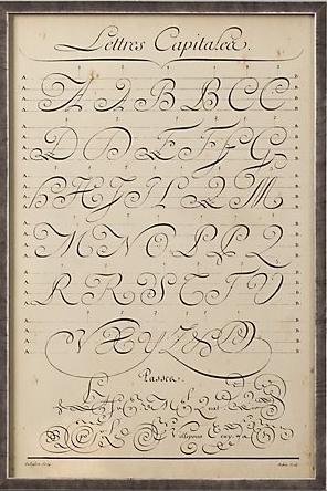 Vintage Looking Calligraphy Chart Lay Baby Lay Lay Baby Lay