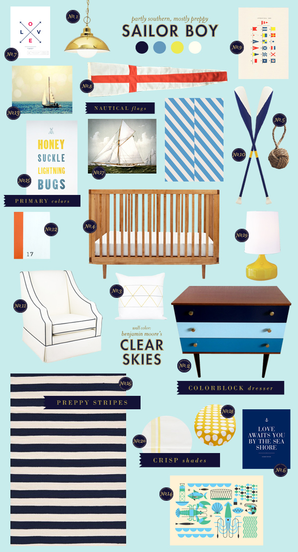 sailing baby room ideas