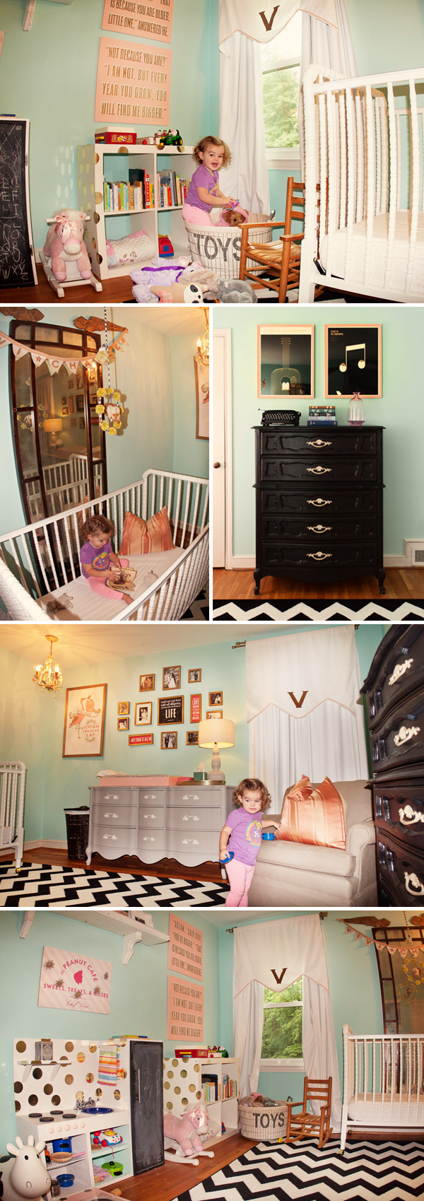 Pink and Turquoise Baby Room Ideas