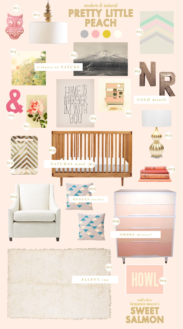 baby room ideas peach