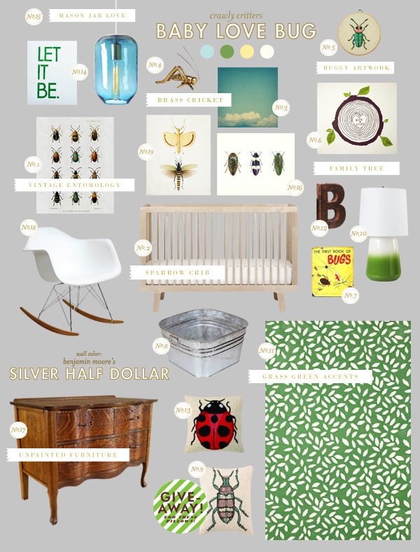 Neutral baby love bug lay baby lay lay baby lay for Bug themed bedroom ideas