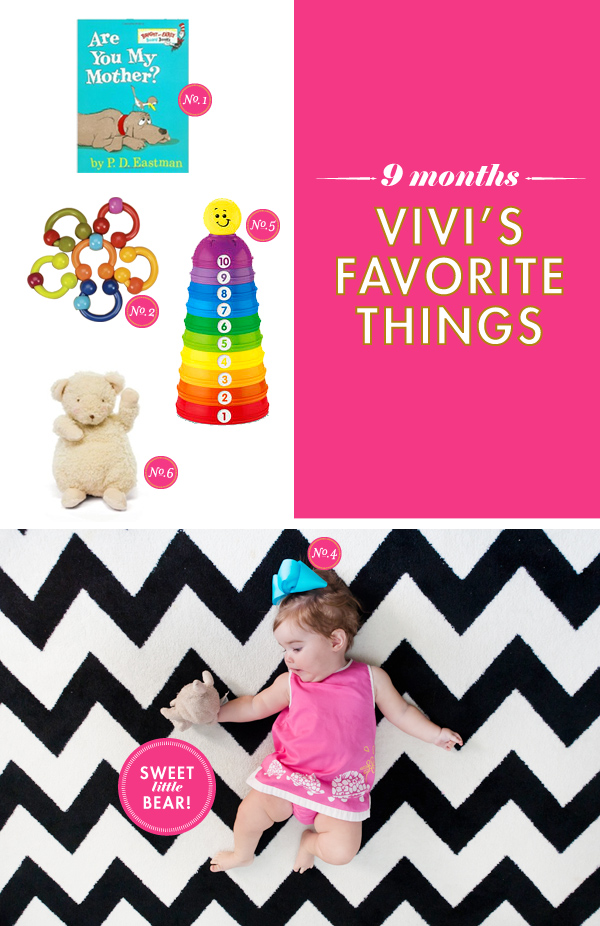 Vivi's favorite things 9 month baby