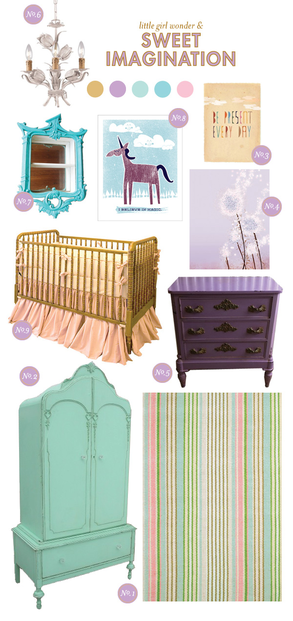 Nursery Inspiration Board; Baby Girl Nursery Inspiration Board