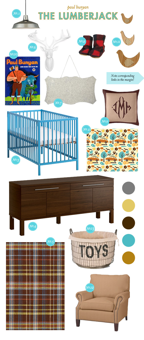 Baby Boy Nursery Inspiration Board; Nursery Style Board