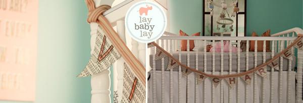 Baby Nursery Inspiration; nursery bunting