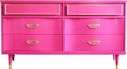 Hot pink dresser lay baby lay lay baby lay