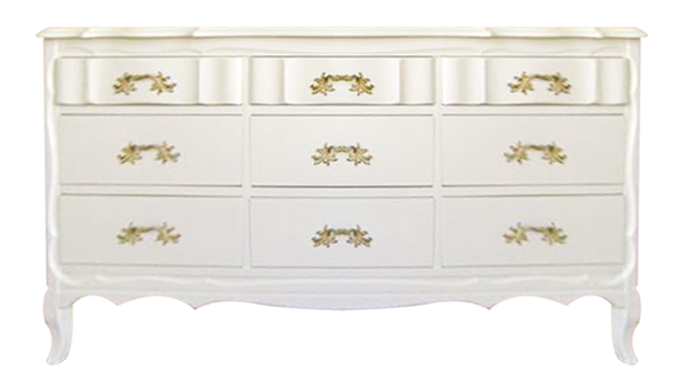 Vintage French Provincial Dresser Painted In A Glossy White Finish. (Note:  Many Of The Dressers/changing Tables Featured On Lay Baby Lay Are One Of A  Kind ...