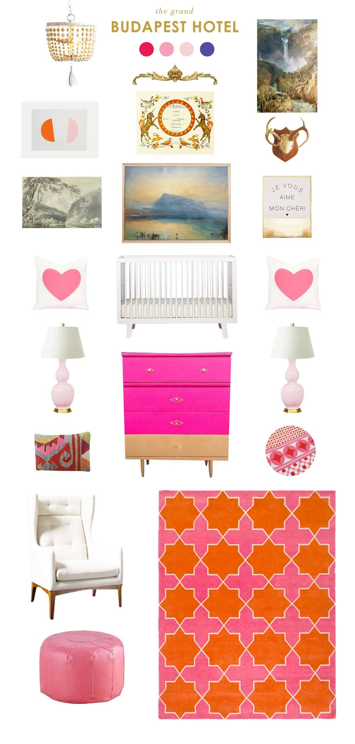 grand budapest hotel baby nursery inspiration