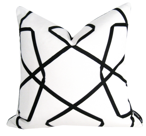 white pillow clipart. black and white outdoor pillow cover clipart