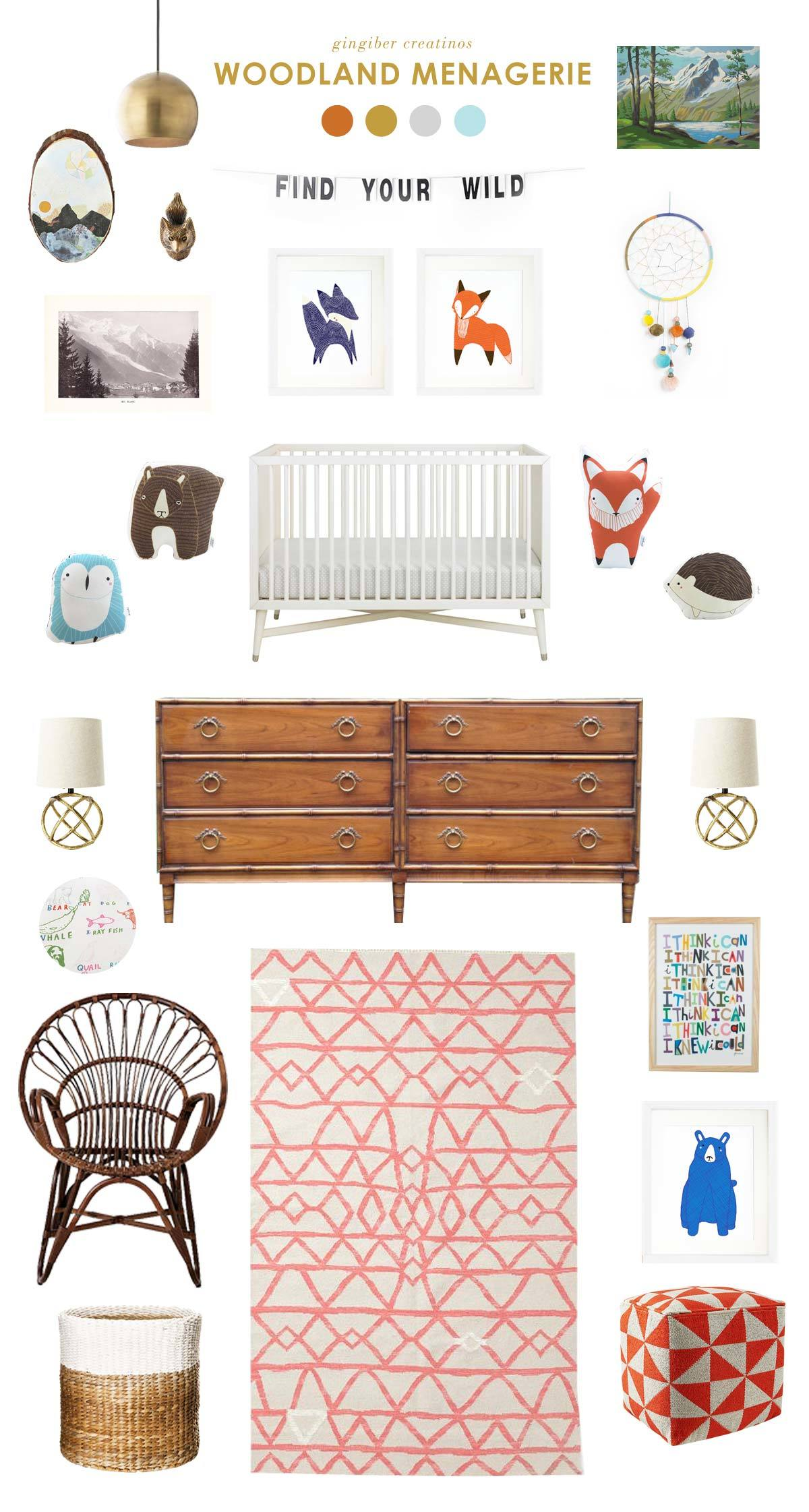 woodland baby nursery inspiration