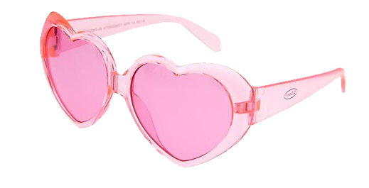 Zenni Optical Heart Shaped Glasses : Pink Heart Sunglasses - Lay Baby Lay Lay Baby Lay