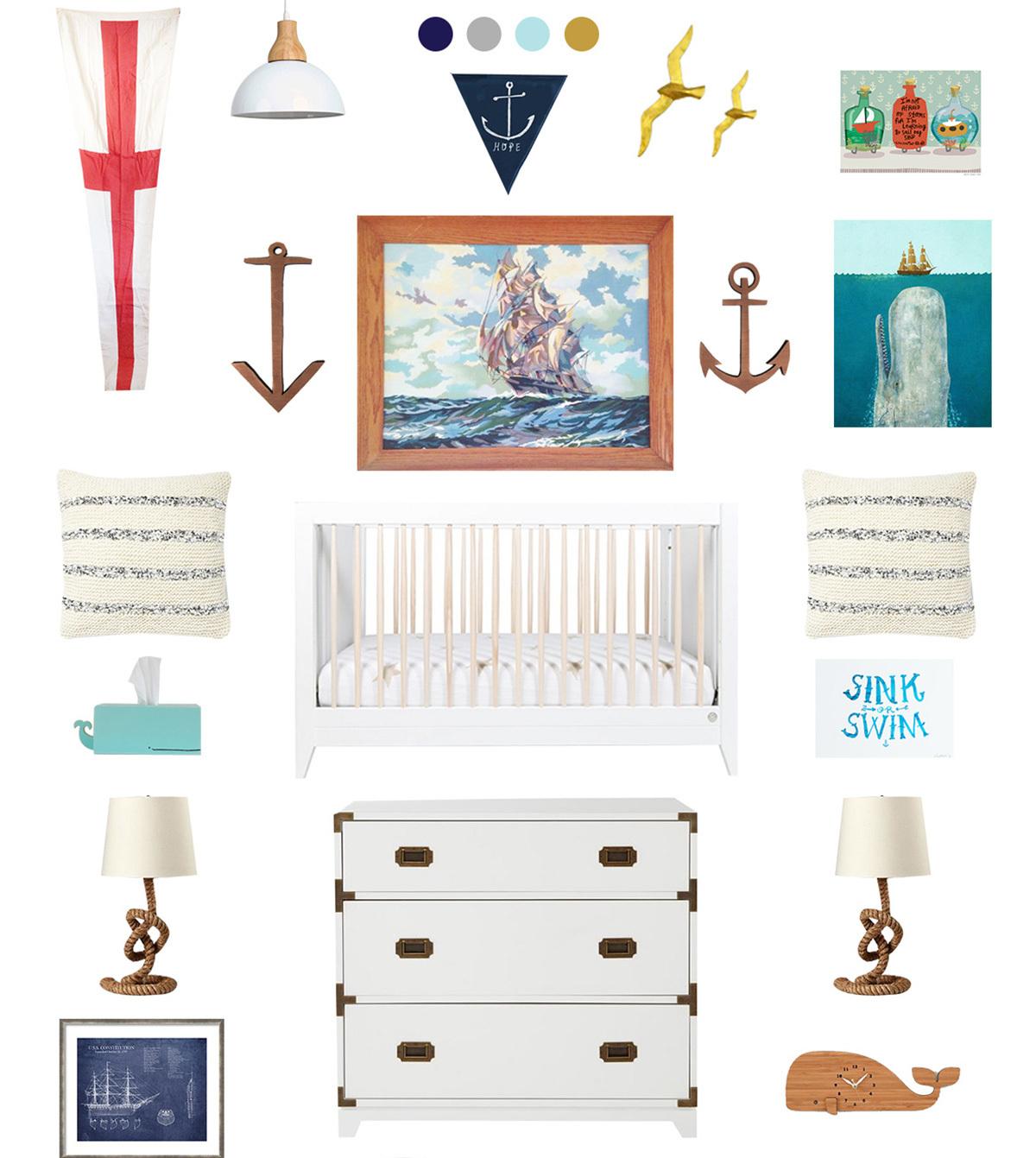 nautical baby nursery inspiration