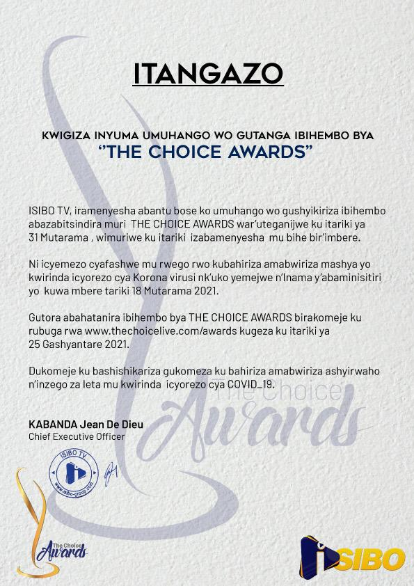 THE CHOICE AWARDS 2020 VOTING EXTENDED