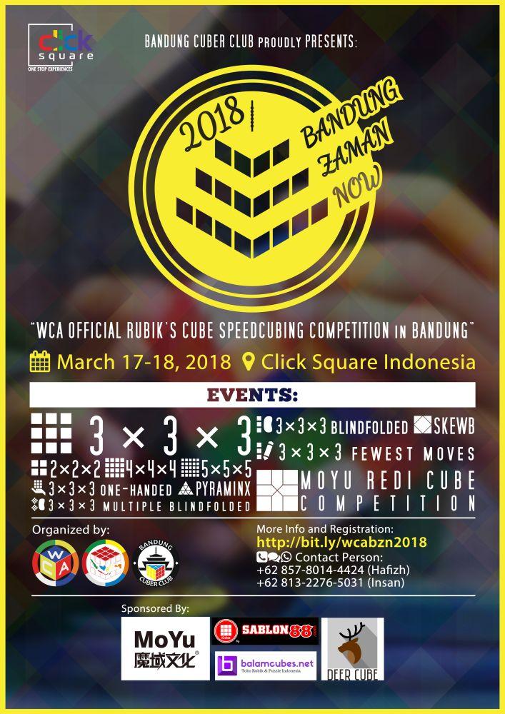 Bandung Zaman Now 2018 Poster