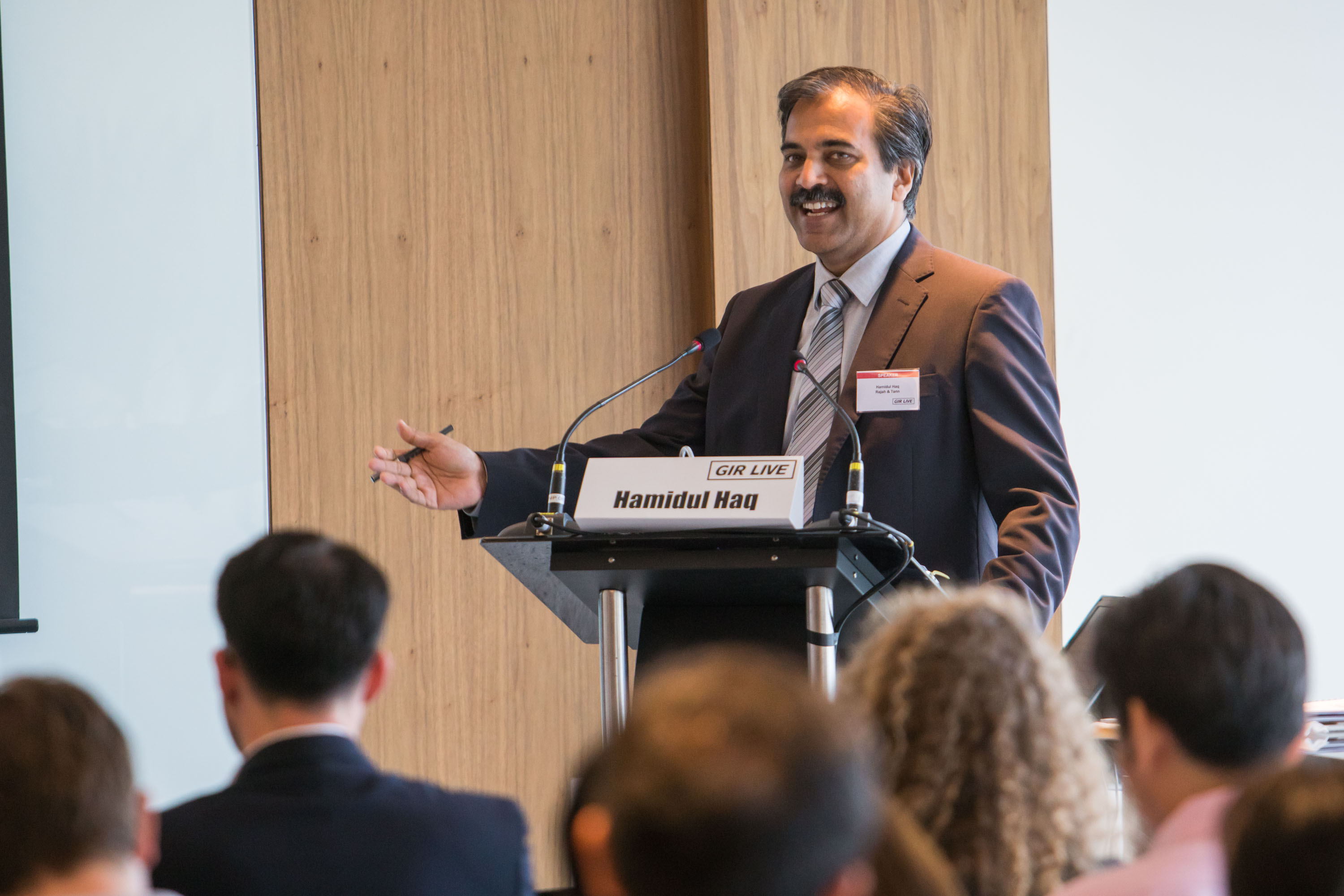 Hamidul Haq of Singapore's Rajah & Tann co-chaired the event with Maurice Burke of Hogan Lovells