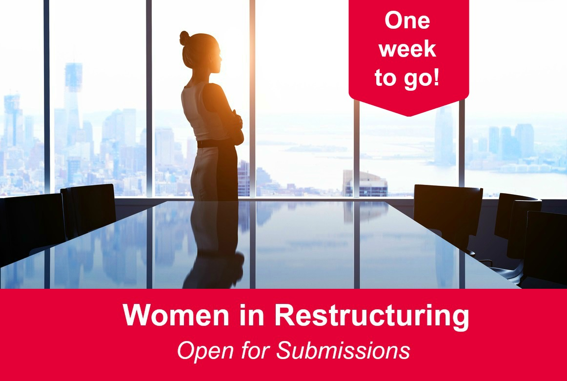 Women in Restructuring – one week to go