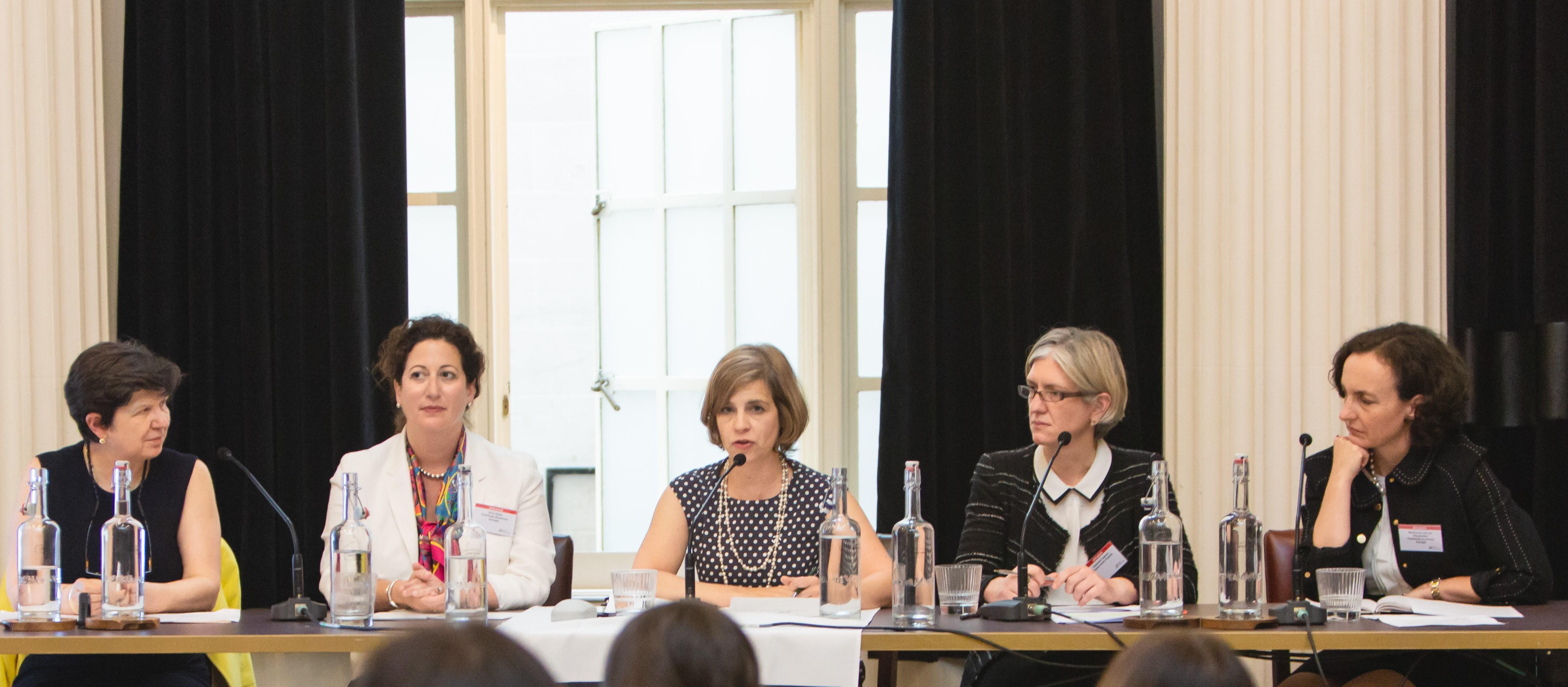 From left to right: Lucinda Low, Olivia Radin, Katherine Lemire, Susannah Cogman and Martina de Lind van Wijngaarden.