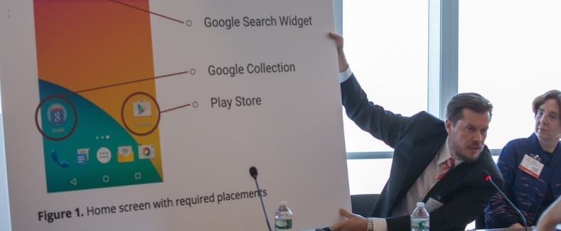 Google and FairSearch counsel spar over app blocking and Russian charges