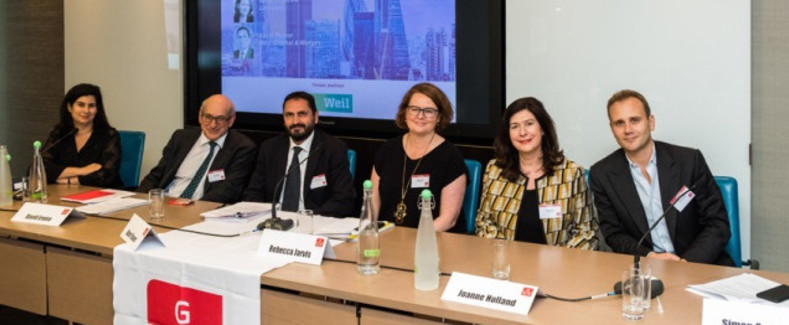 L-R: Felicity Toube QC, David Ereira, Adam Plainer, Rebecca Jarvis, Joanne Holland, and Simon Granger