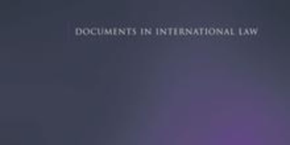 BOOK REVIEW: Basic Documents on International Investment Protection