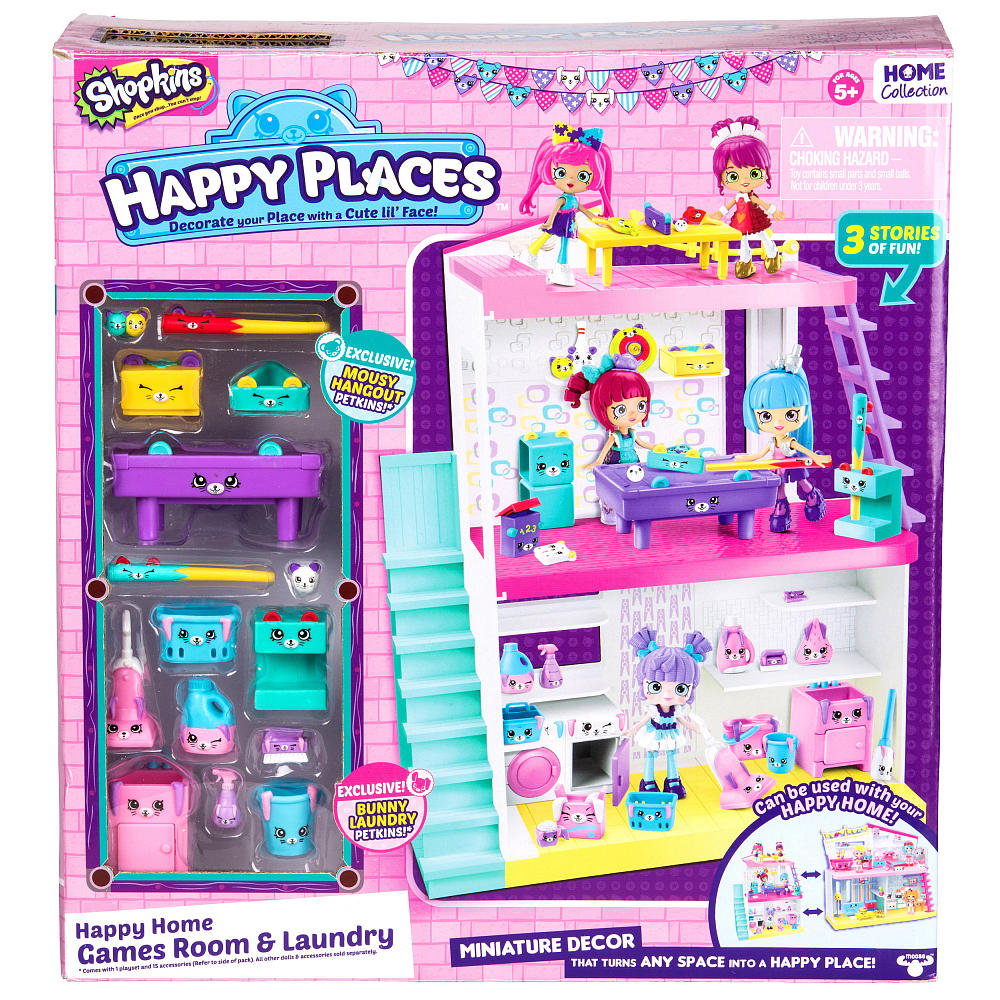 Shopkins happy places happy homes games room and laundry for Happy playsets