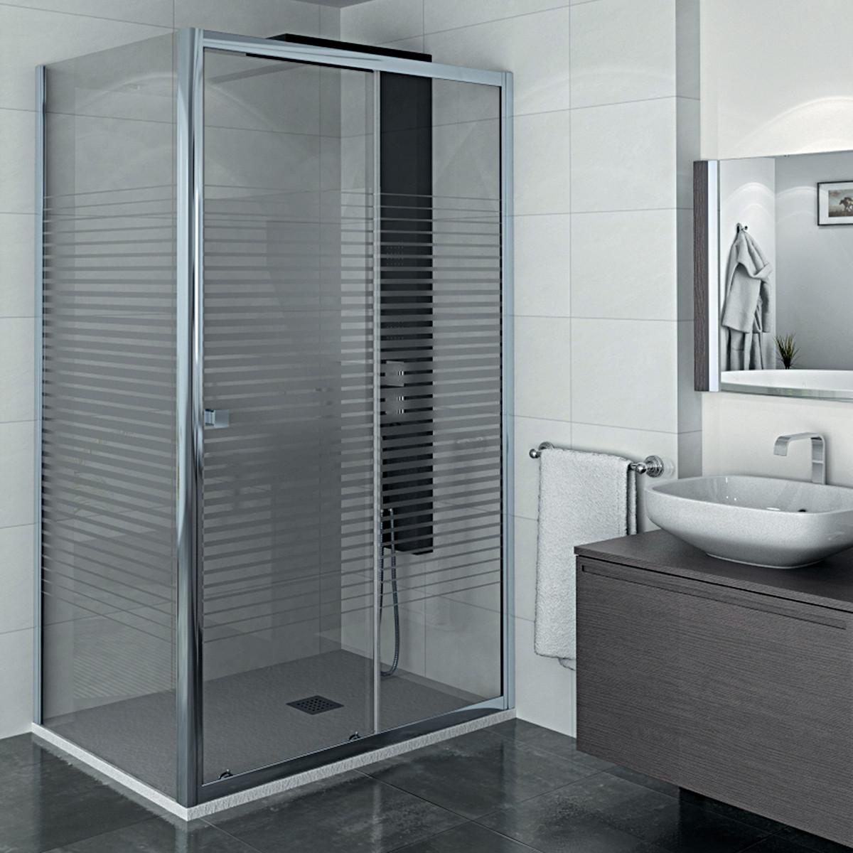 Box doccia cabina scorrevole cristallo 6mm prezzo e for Box doccia 70x100 leroy merlin