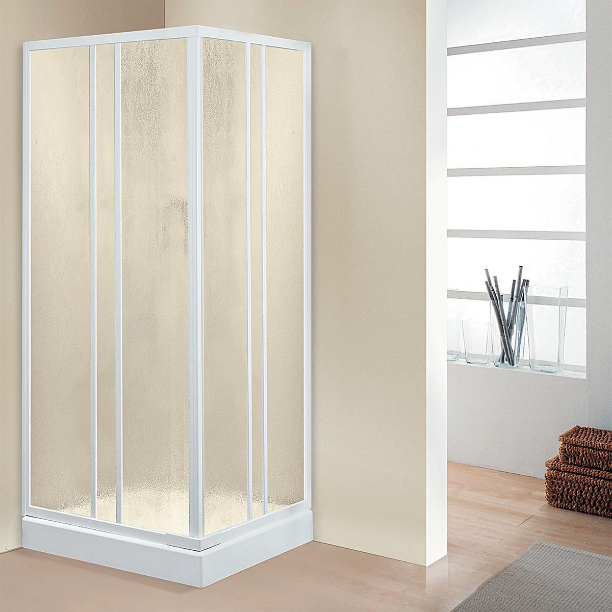 Box doccia gemma quadrato cristallo 8mm porta prezzo e for Ante scorrevoli leroy merlin
