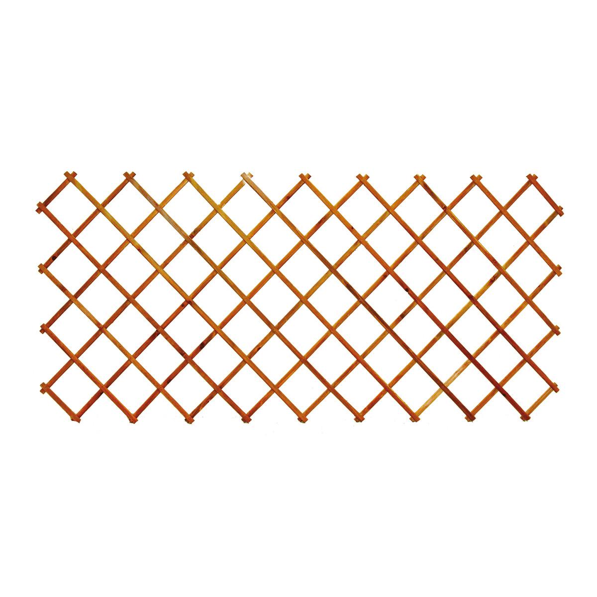 Traliccio estensibile in legno marrone per esterno for Tralicci leroy merlin