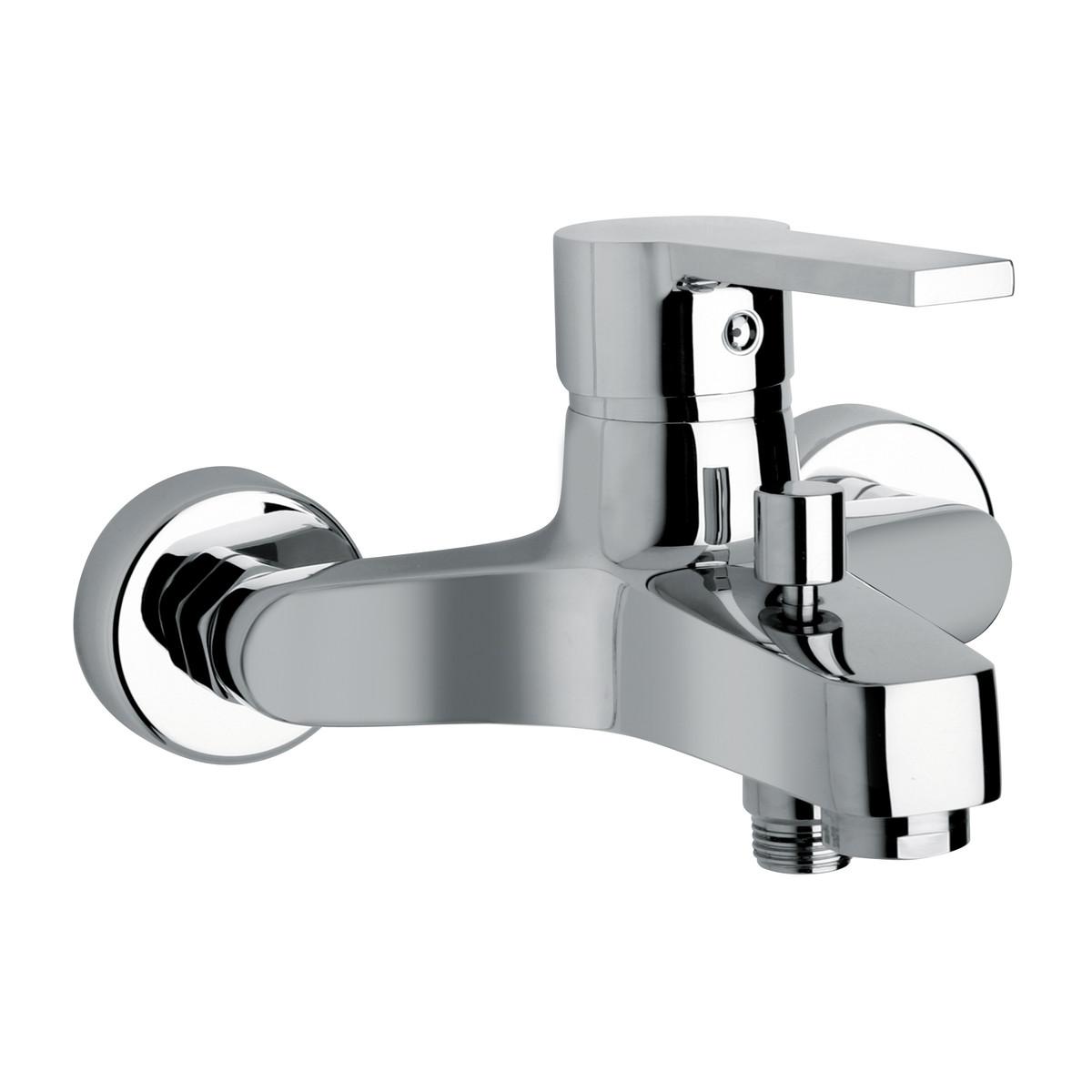 Homegarden miscelatore rubinetto vasca finitura cromo for Flessibile leroy merlin