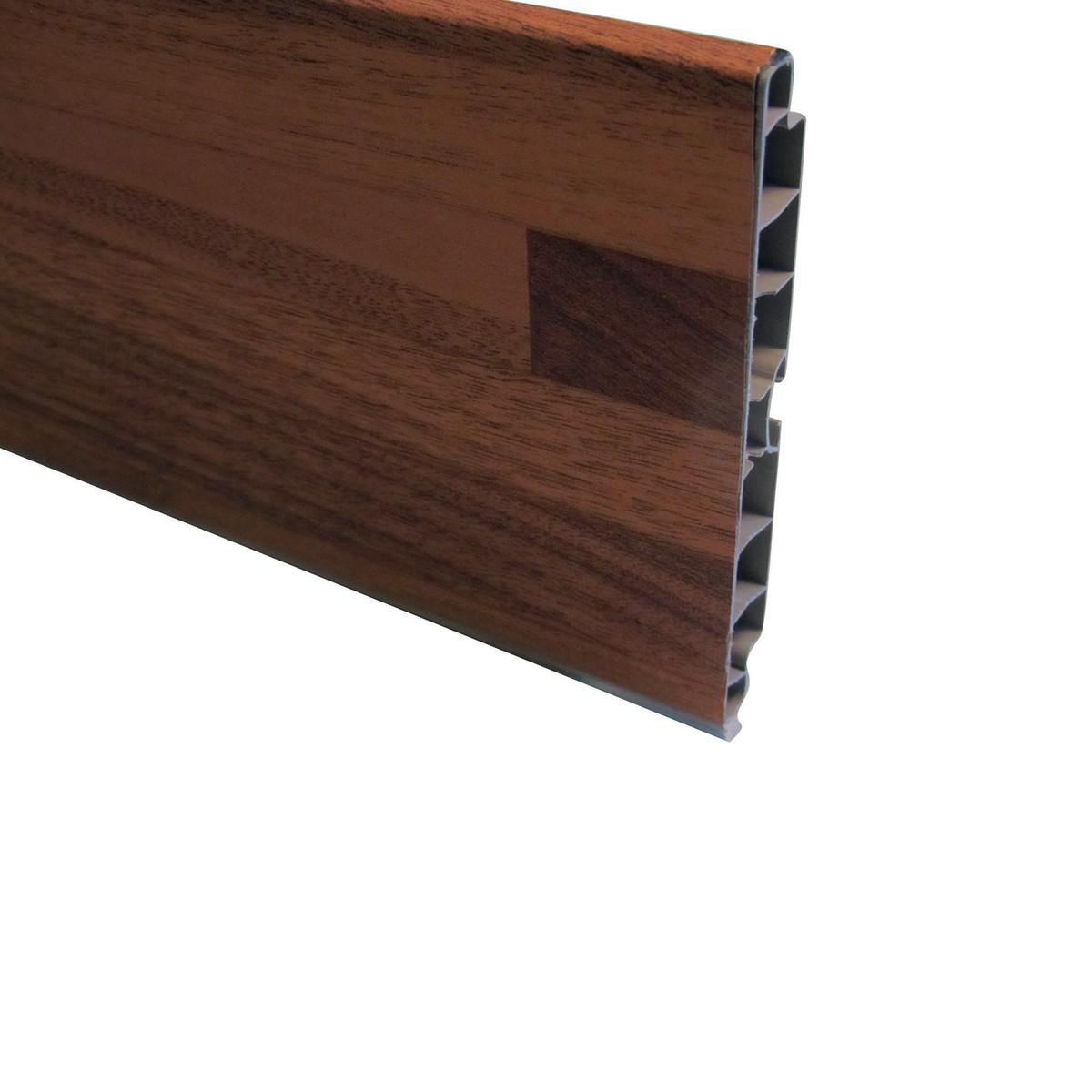 Battiscopa zoccolino pvc espanso h 70 mm prezzo e for Battiscopa in legno leroy merlin