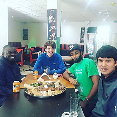 Today we took our volunteers to try Ethiopian food to celebrate World Mental Health day. Building community and socialising are great ways to combat isolation and improve mental health!