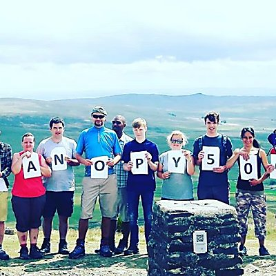 We're fundraiaing by walking 500 miles this year! Volunteers, staff and tenants racked up our first 66 miles last Monday by hiking Penyghent! Link in bio to donate to the cause!