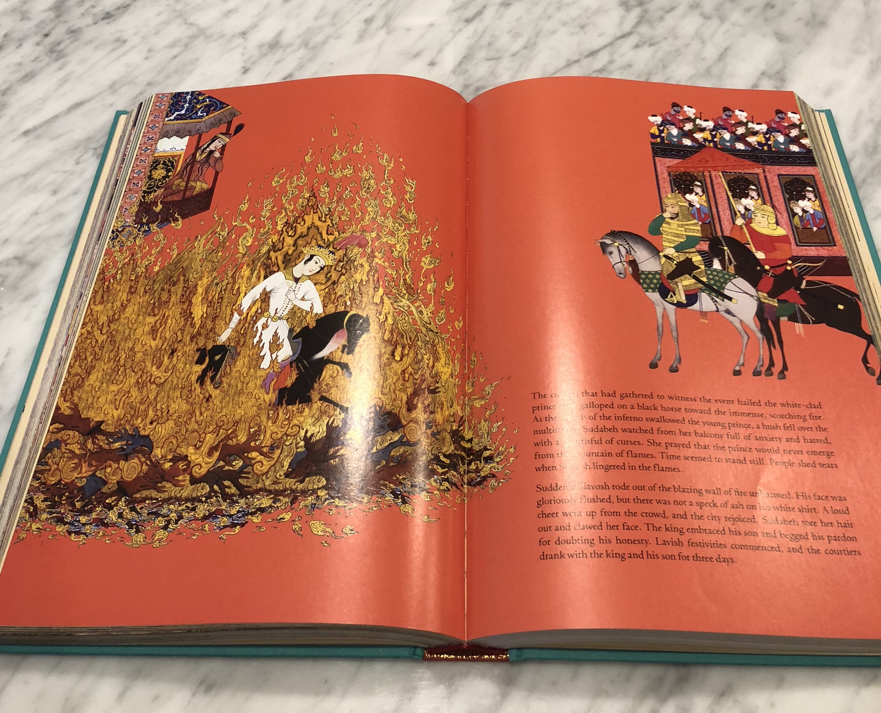 Shahnameh Fire Burning Page
