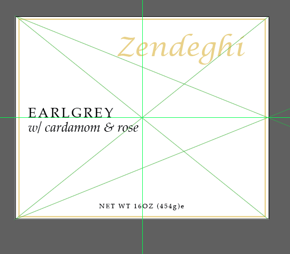 Zendeghi Sticker Label Comp
