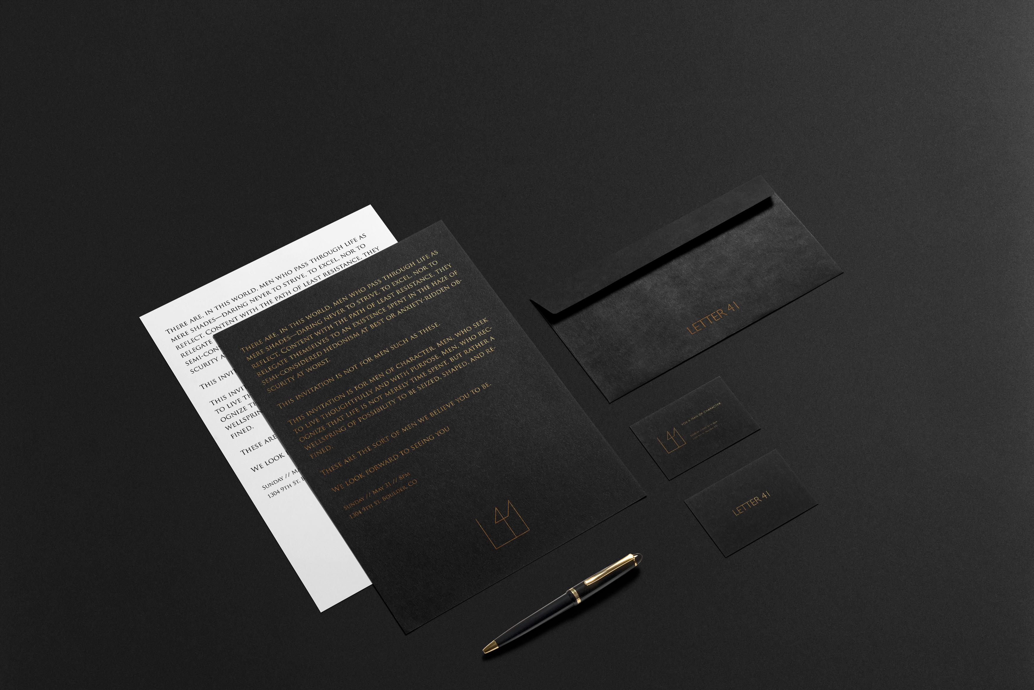Letter41 Invitation Mockup
