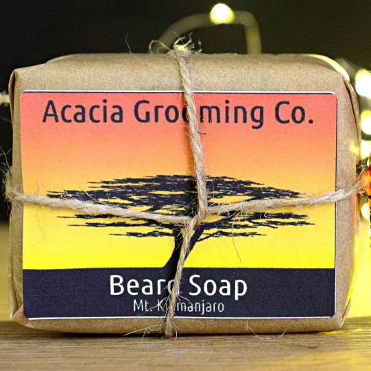 acacia grooming co beard soap 100 natural african black soap mt kenya 90. Black Bedroom Furniture Sets. Home Design Ideas