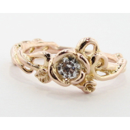 Rose Gold Diamond Engagement Ring, Rose Garden Enhanced