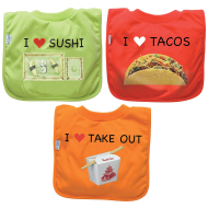 Green Sprouts Favorite Food Absorbent Bibs
