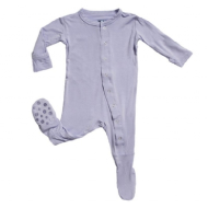 Kickee Pants Basic Footies with Paws Lilac 3-6m
