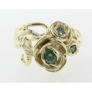 Green Diamond Green Gold Ring, Rose Bouquet