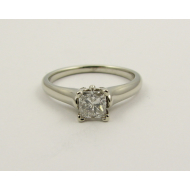 Diamond Princess Solitaire, White Gold