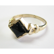 Roman Ring, Black Onyx & Yellow Gold