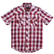 Dissizit S/S Button Up - Liberty - Burgundy Plaid